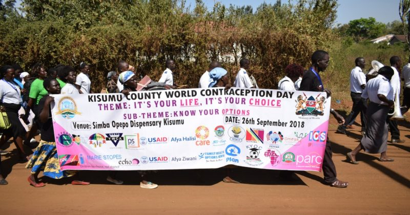 WORLD CONTRACEPTION DAY CELEBRATION AT KISUMU COUNTY
