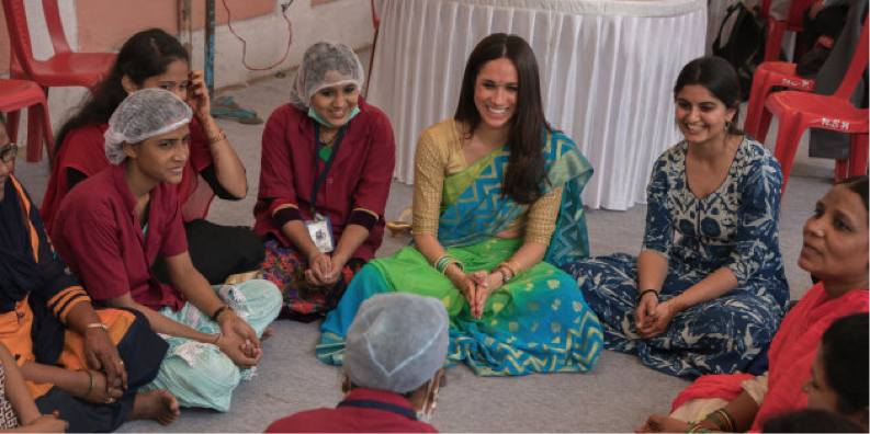 Duke alum who founded Myna Mahila Foundation (aims to improve equal access to menstrual hygiene products in India) chosen as one of seven charities to receive donations from Royal wedding